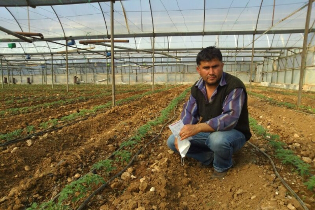 Farmer Ibrahim Ayat has been working with Taste of Fethiye for three years