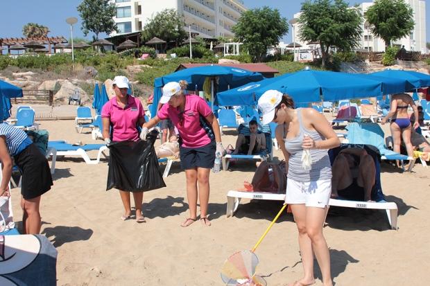 Beach cleanup Cyprus