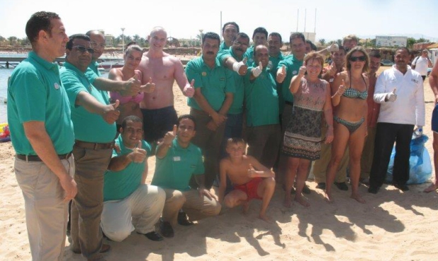 Beach clean at SUNRISE Select Royal Makadi Resort, Egypt