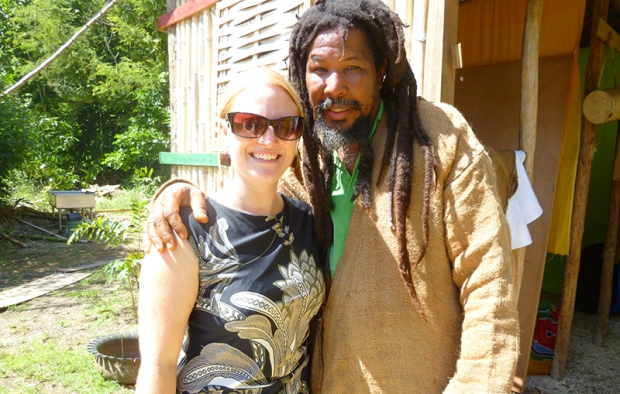 Suzannah Newham at Rastafari Indigenous Village