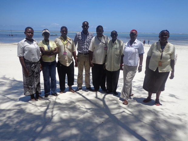Julius, with some of the Nyali beach operators